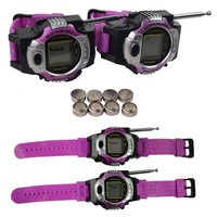 Говорящая игрушка Mini 2-Way Radio LCD Wrist Watch Walkie-Talkies Kids Interphone Toys #I015