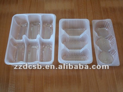 plastic food tray with different cavities for biscuits