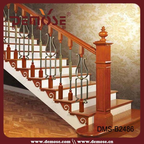 escalera curva flexible antiguo hierro forjado pasamanos soporte
