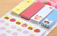 Блокнот для заметок New Rilakkuma stripe sticker book memo / Memo pad /Removeable paper
