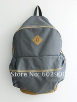 Simple Fashion solid color backpack,  casual style men's bags, unisex school student backpack,  sports packsack, dropshipping