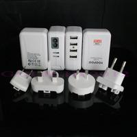 Зарядное устройство для мобильных телефонов 1Pcs/lot 4 Ports USB Wall Home AC Charger Adapter for Mobile Phone MP3 MP4 and other USB device EU