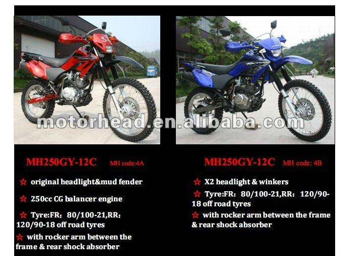 MH250GY-12,LED light, 250cc dirt bike\250ccenduro bike,Tornado XR250 Type dirt bike