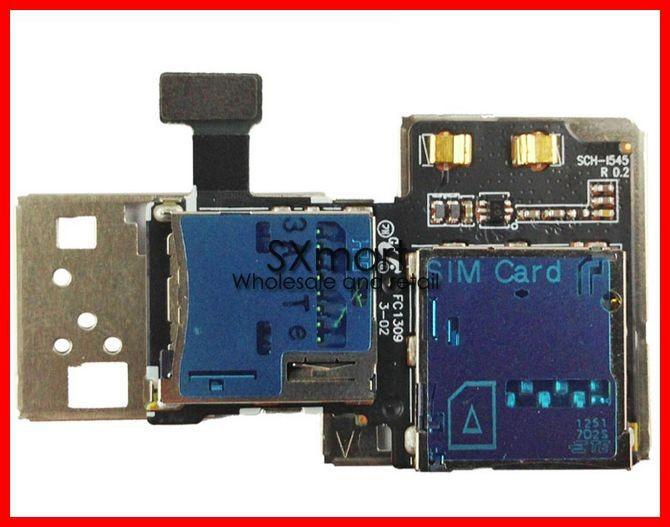 Микросхема для телефона 100% Original for Samsung S4 i9500 i959 i9502 SIM Card Holder Slot adapter and Micro SD Card Reader