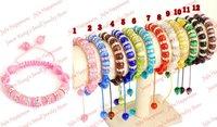 10pcs/lot 10mm Yellow Cat Eye Glass Spacer Bead Shamballa Bracelet Free Shipping! smb1038
