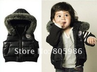 High quality, HOT! baby vest, the boy coat. Children's clothing Male baby cool vest, black