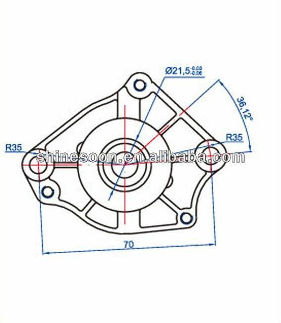 2014 Motorcycle Starter Motor For NH-50
