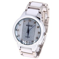 Наручные часы New Daybird branded watch Diamonds Squares Indicate Round Dial with Steel and Ceramic Watch Band for Women