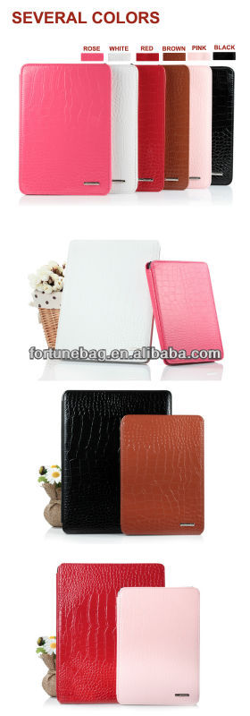 fashion high quality case for ipad in leather
