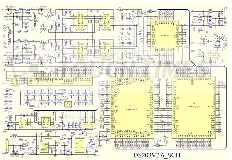 4 цифровой осциллограф мини