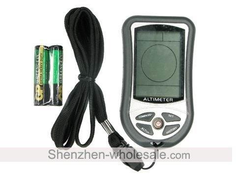 8 em 1 altímetro digital com Altímetro Barômetro Termômetro