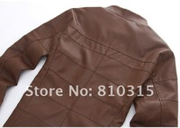 Мужские изделия из кожи и замши New Men's brand fashion Business High quality rinsing leather Locomotive Leather Coat Jacket