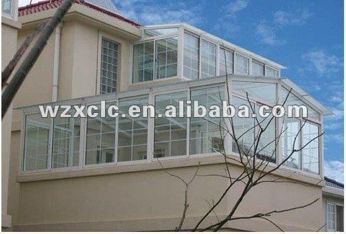 stylish outdoor glass room