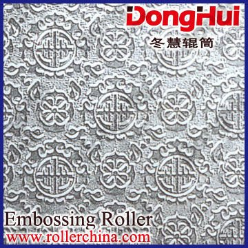 textured roller-en64,750*6000mm,for hot fabric,3D pattern,laser engraving,made by Shanghai Donghui Roller,Chinese famous manuf
