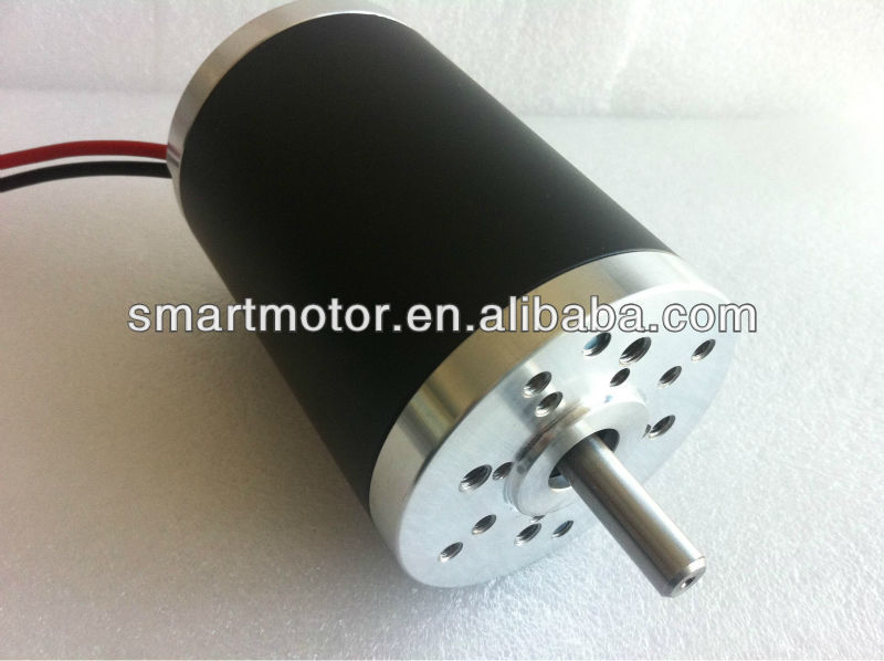OD63mm high torque Permanent Magnet Brushed Dc Motor 12V, 24V, 36V, 40V, 48V, power 50w, 75w, 100w, 125w, 200w, 250w, 500w