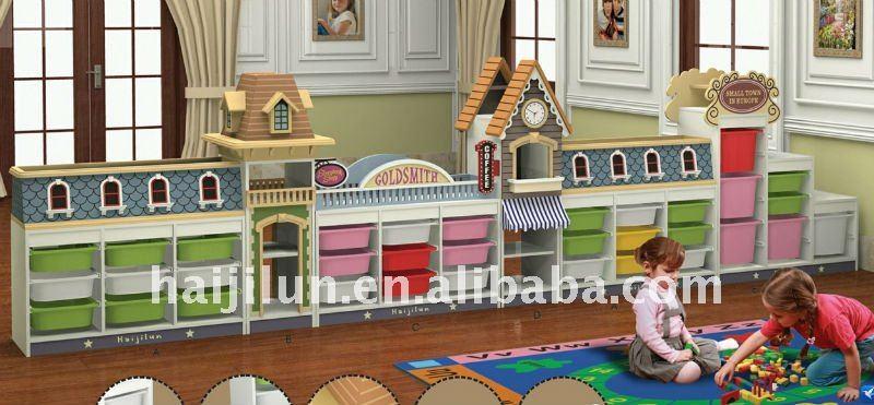 Enfants cole en bois jouet meubles de rangement armoire - Meuble rangement jouet enfant ...