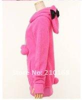 Женские толстовки и Кофты Shuge Hot Sale Sweety Women's Hoody Cute Rabbit Ears Fluffy Balls Sherpa Sweatshirts hoodies GZ11071205