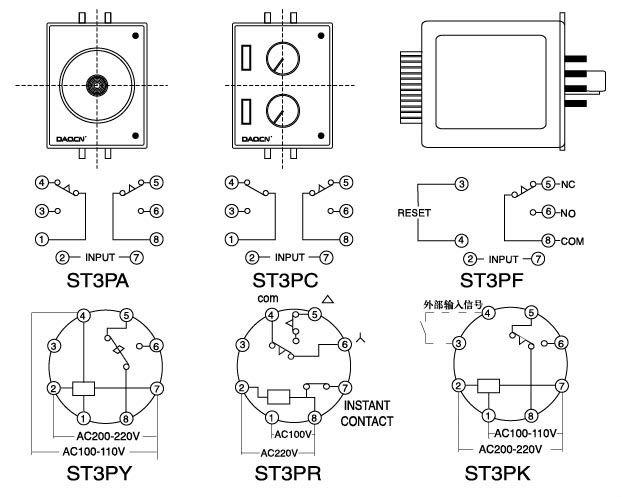 ST3P Multi Range Timer Relay