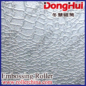 textured roller-en9,750*6000mm,for hot fabric,3D pattern,laser engraving,made by Shanghai Donghui Roller,Chinese famous manufac