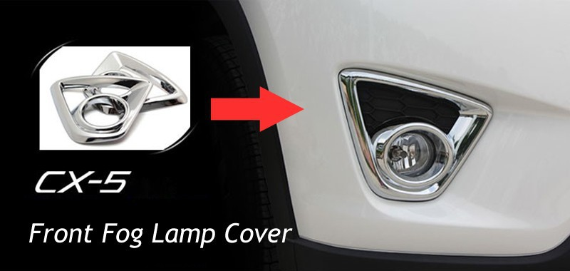 2019 Chrome Front Fog Lamp Cover Trim Car Covers For MAZDA ...