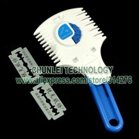 Расческа для волос Punk Emo+5 blades Salon Hair Bang Cut Cutting Thinning Dual Cutter Razor