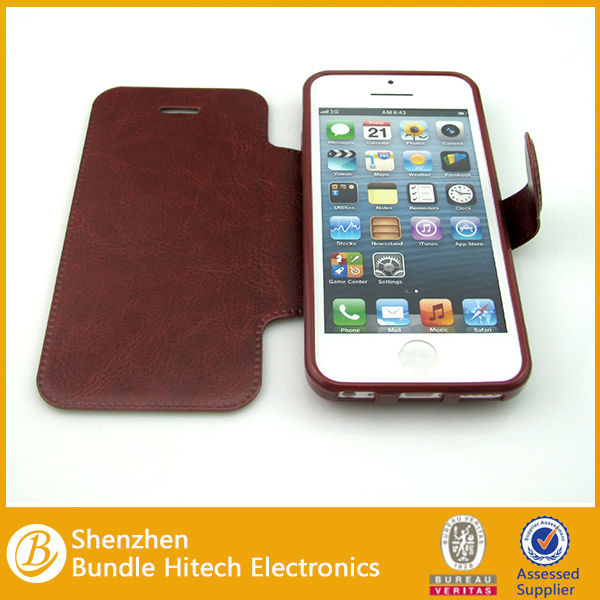 For iPhone 5C leather case, PU leather case for iPhone 5C