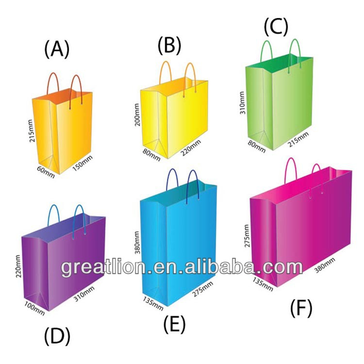 Fashion large paper shopping bags