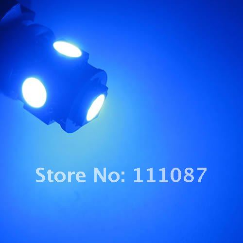 50 X BA9S 5LED SMD High Power Wedge light bulb 5 led Corner lamp interior lights LED Backup Lights -white/red/blue/green/amber