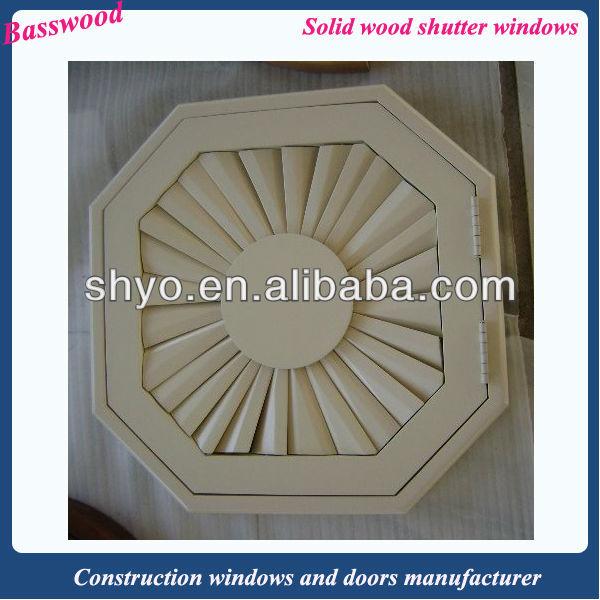 Wooden plantation shutters 89mm slat white color
