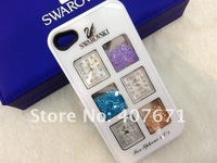 Free shipping Swarovski Crystal case for iphone 5,with 3 Japanese precision Clocks, Luxury packaging case 10pcs/lot