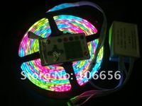 waterproofed ip65 SMD5050 dream color running rgb led strip light chasing changeble 300led/5meter+ controller free shipping
