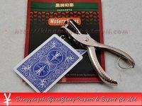 Игрушка для фокусов Punch card/Moving Hole Card Hollow Transfer Magic Trick with Punch Move+Hole punch/magic tricks/magic props