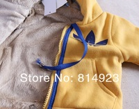 Комплект одежды для девочек HOT Boys Girls Winter Warm sports Clothing Baby Suit infant thicken Childre's Set Kids Longsleeve Hoody Jacket+ fleece Pants