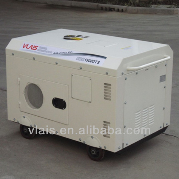 2 cyliner China Original VLAIS KDE15000TS Electric Starting Diesel Generator Air-cooled All COPPER COIL