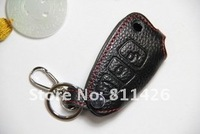 Брелок для ключей Z81 Ford genuine leather Protective Cover with red thread for REMOTE 3 buttons intelligent car KEY