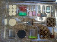 Free Shipping DIY 100PC Bit Set Suit Mini Drill Dremel Die Grinder & Rotary Tool Set/Accessory/Kit