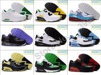 Мужская обувь для бега sports shoes 90, men's Running shoes, sports shoes mix order Сетка (Air Mesh) Шнуровка