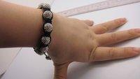 Браслет Shamballa Bracelets, New Shamballa crystal Bracelets Micro Pave CZ Disco Ball Bead, CJB198