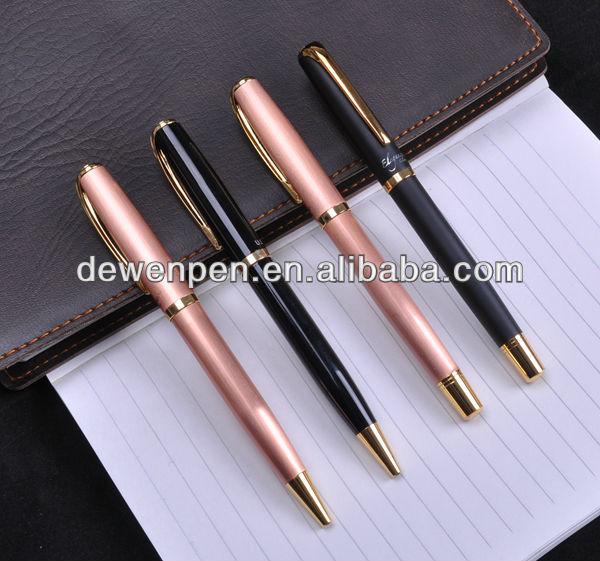 Metal personalized black ink pens as gift pens