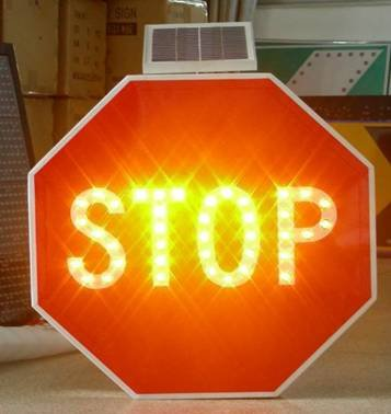 stop warning board