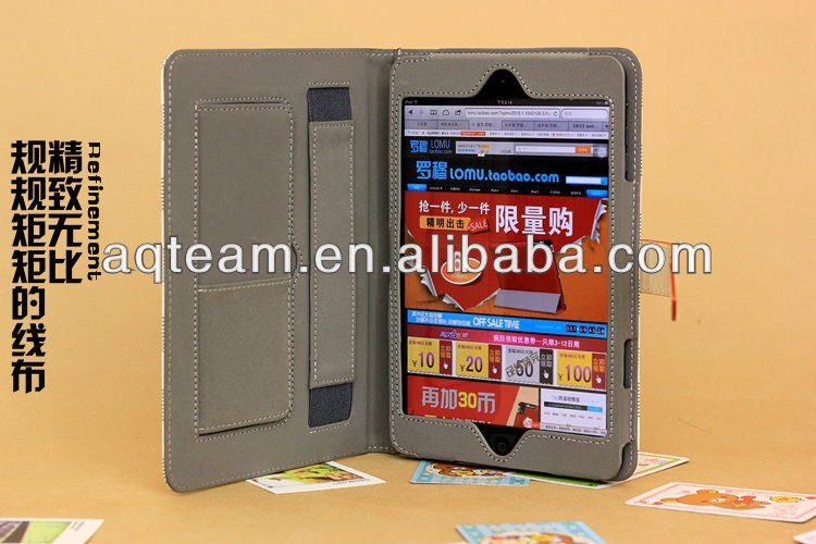 Newest Product Grid Stripe Stand Leather Cover For ipad Air ipad 5