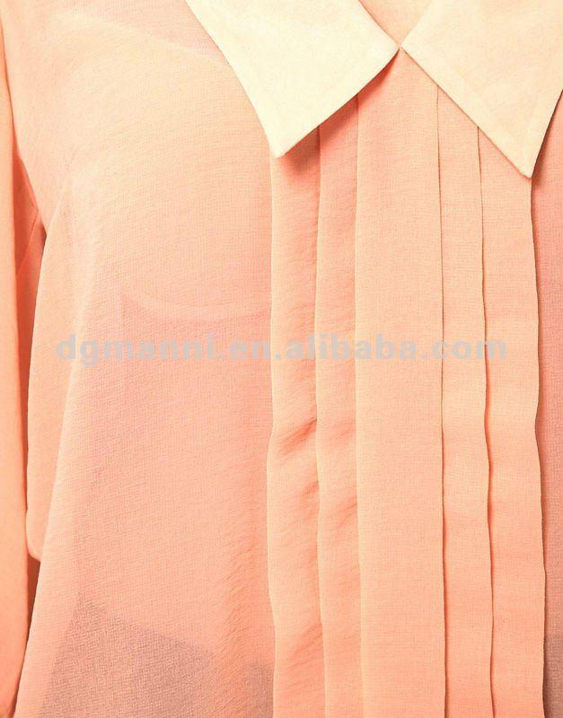 Nuevo estilo de diseño chffion blusas ropa de moda para mujeres 2013