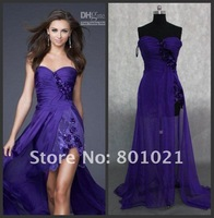 Вечернее платье Hotttest Real Picture ruffle size color chiffon gown pageant ball designer celebrity Evening dress 2013