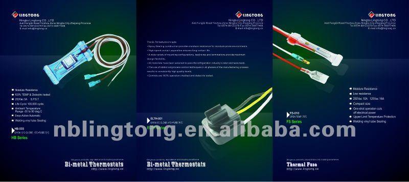 4 Wire samsung LG Fridge freezer defrost sensor 10K1% 6615JB2005A 4781JK2001A FS-011