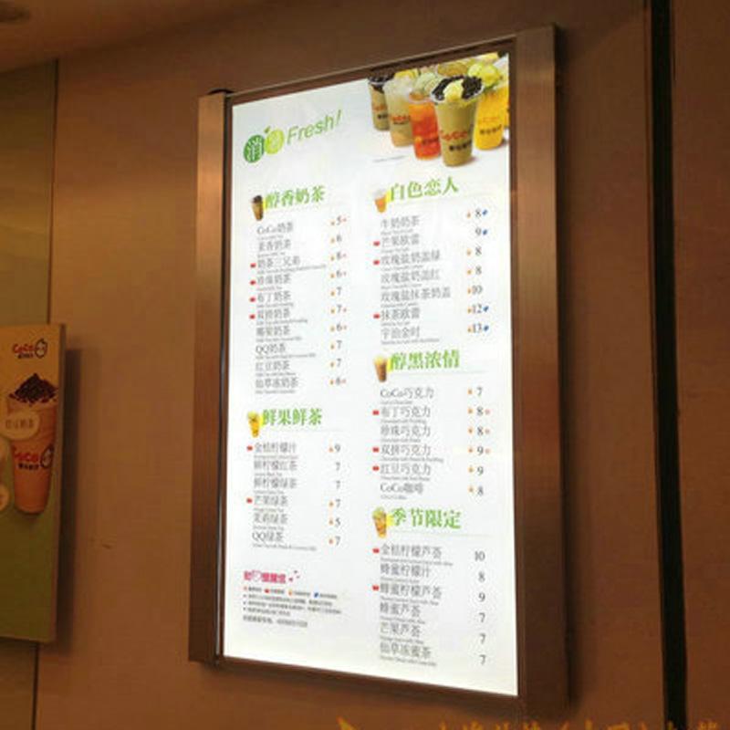 board buy hanging menu board restaurant hanging menu board led light