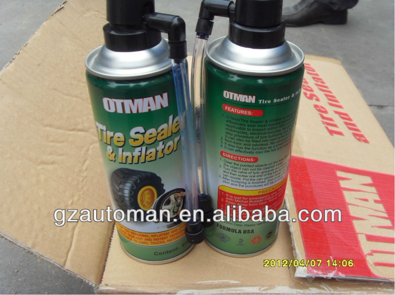 ISO9001 Aerosel Sealant For Tire 450ml