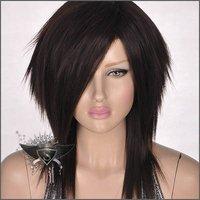 stylish Dark Brown Medium Straight Women's Full Hair Wig