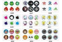 Стразы для мобильных телефонов 10Sets Various Home Button Key Sticker for iphone 4 4s + Gift Pack, 53 designs, accept mixed order
