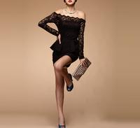 Сексуальная бретелек кружева листа лотоса платье для дамы сексуальные Тедди женщина платье wql061