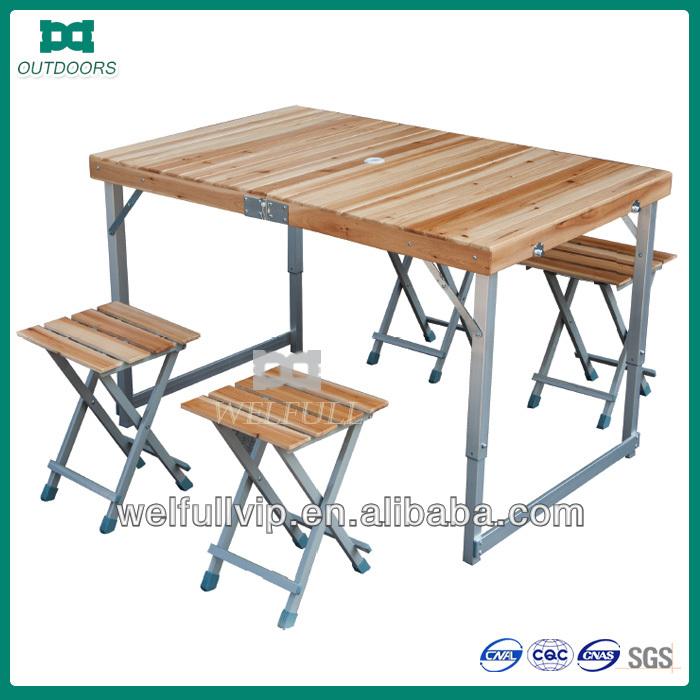 Деревянный стол складной для пикника